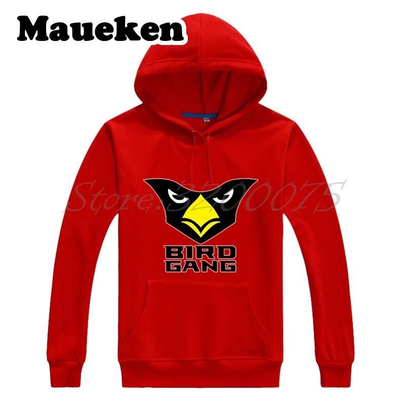 Men Hoodies Arizona bird gang Sweatshirts Hooded Thick for cardinals fans gift Autumn Winter W17112710
