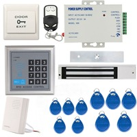Full Complete 125KHz EM ID Card Single Door Access Control Keypad System Kit With Electric Strike