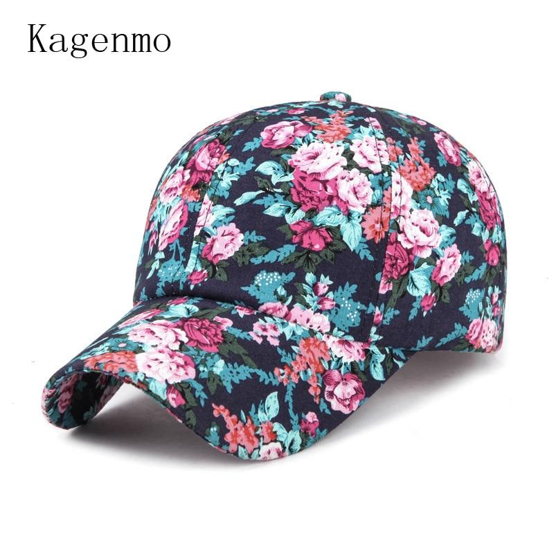 Prix pour Kagenmo 2017 Femmes fleur casquette de baseball de mode casual dame chapeau de soleil cap loisirs femelle d'été promenade réglable visière mince