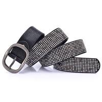 Bling Bling Women Belts Luxury Dress Party Waist Belt Good Quality Leather Vintage Lady Fashion Girdle Popular Street Belt