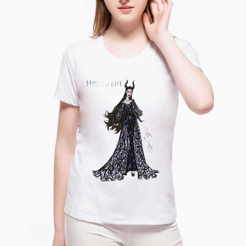 חם מכירות נשים Cartoon המודפס T חולצה O-צוואר מקרית חולצות מכשפה שחור לוחם רטרו נשי הברנש מצחיק מגניב טי L7-75