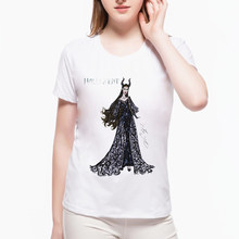 Hot sales Women Cartoon Printed T Shirt O-neck Casual Tops Witch Black Warrior Retro Female hipster funny Cool Tee L7-75(China)