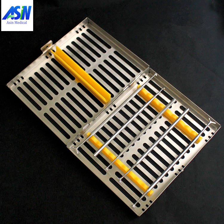 2017 high quality Dental Sterilization Cassette Rack Tray Box for 10 Instruments instrument disinfection plate dental sterilization box for gutta percha root canal file high speed bur disinfection box dental tool box disinfection box sl308