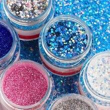 Multi-Size Nail Glitter 8 pcs Set