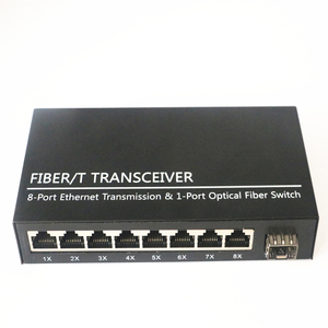 Image 2 - SFP Gigabit Converter fibra optica Switch 1 Port SFP Slot to 8 Port TX RJ45 Connector SFP Fiber Optic Transceiver Switch