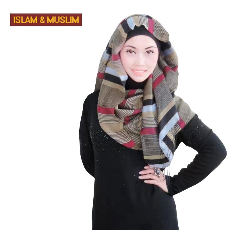 2016 nouveau style bandeau voile islamique de mode foulard musulman femmes  gland long hijab turban viscose