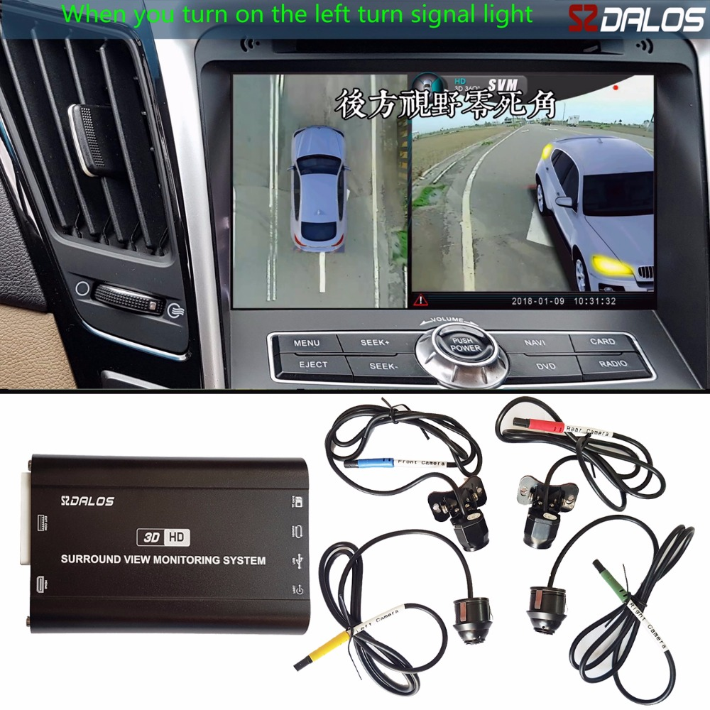 SZDALOS área cega de Condução sistema de visualização/360 surround view camera system/