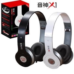X1 folding headset earphones mobile phone computer portable subwoofer speaker