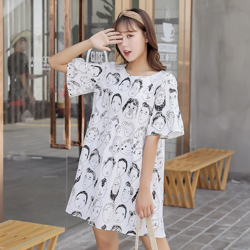 Cotton and Linen Women Short Sleeve Dress 2018 Summer Loose Ladies Fashion Street Wear Show Slim O Neck Women Casual Dresses ...