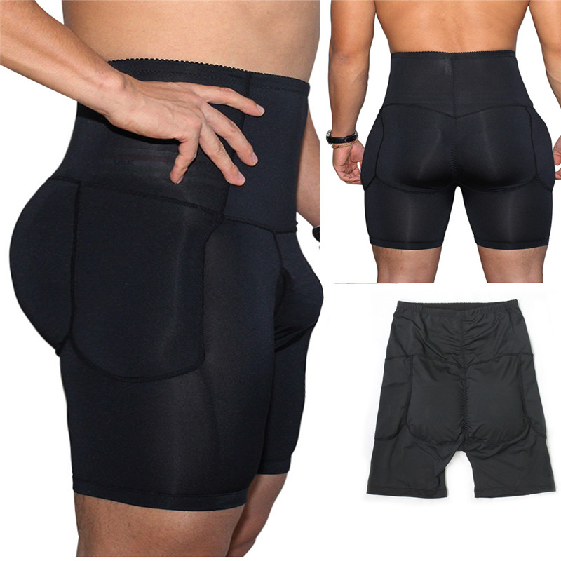 Sexy Men underwear Hip-up Butt Lifter Men's Package Enhancing Padded Trunk Shorts Gay penis boxer Push up boxershorts (9)