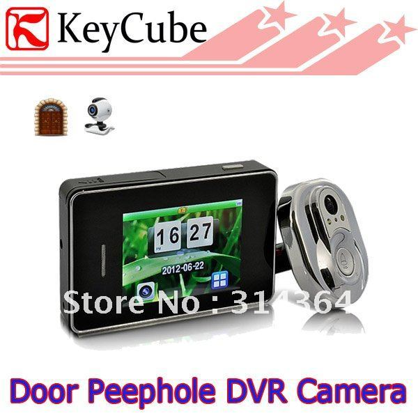 DVR Door Peephole Camera System 170 Degree View, 2.8 Inch Display ,Wired Video Camera door bell  Free Shipping