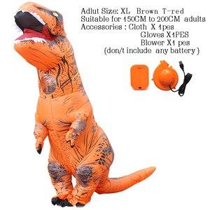 Image 4 - T rex dinosaure aufblasbare kostüm deguisement halloween gießen animaux cosplay maskottchen kostüm dinosaure