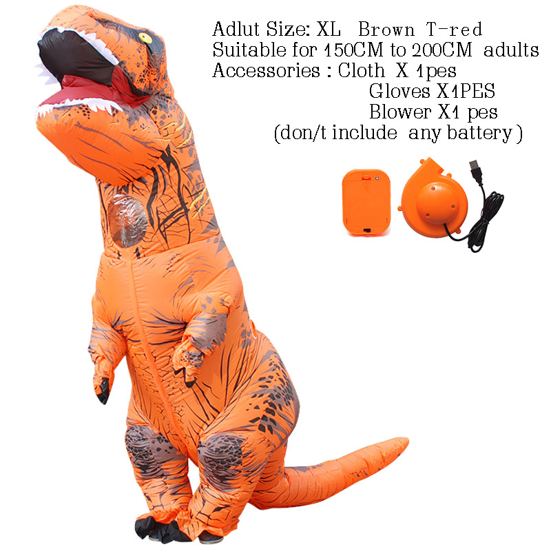 Image 4 - T rex dinosaure inflatable costume deguisement halloween pour animaux cosplay mascot costume dinosaure-in Mascot from Novelty & Special Use
