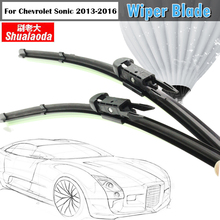 Vehicle Soft Rubber Windscreen Wiper Blade Windshield 1Pair Car Wiper Blades Frameless For 2013-2016 Chevrolet Sonic
