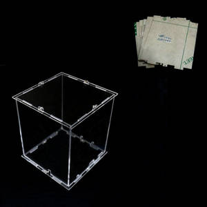 Cubeeds Led-Light Acrylic Mini DIY with The-Use of Our-3d8 Is 12x12x H14-Cm Only Case-Note:Cubeeds-Box