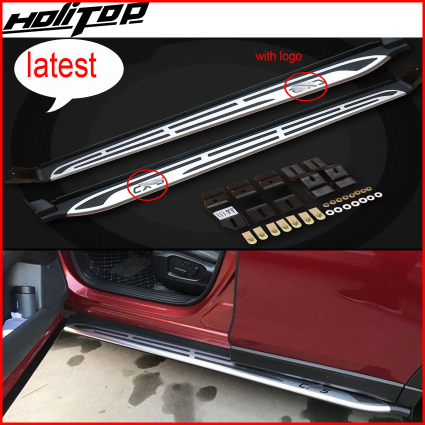 New arrival running board foot steps side step nerf bars for Mazda CX-5 2017 2018+, reliable quality,free shipping to Asia 4 hammered blk hd oval side step nerf bars running boards 05 11 dakota club cab