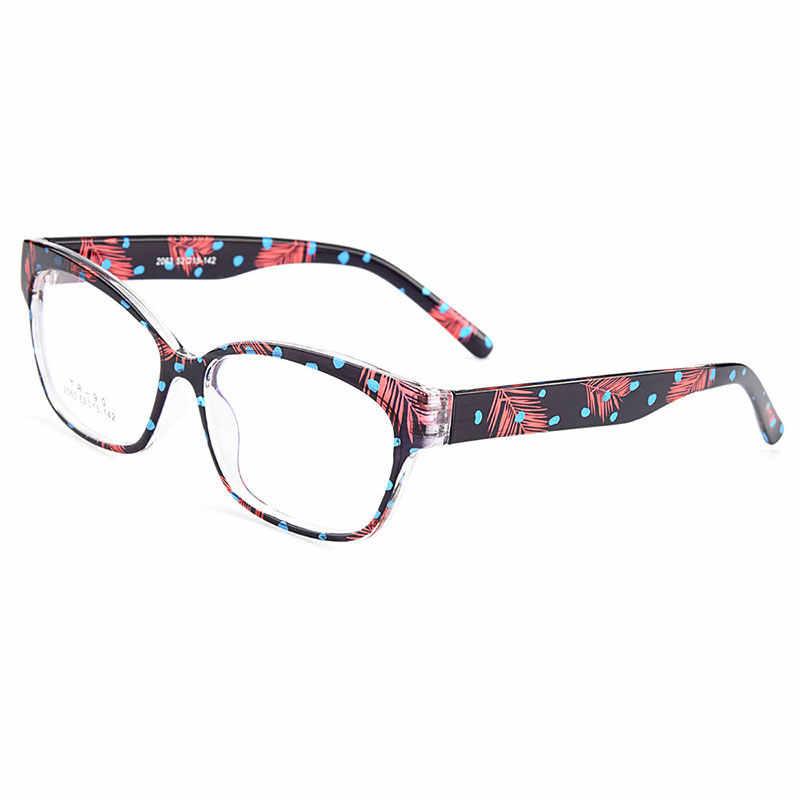 Gmei оптический: ультралегкие TR90 очки полноразмерная оправа оптическая оправа для очков с цветами Для женщин Пластик близорукости дальнозоркости M2063