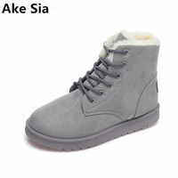 Ake Sia 2017 Explosion Models Women S Boots Autumn And Winter Snow Boots Flat Plus Velvet