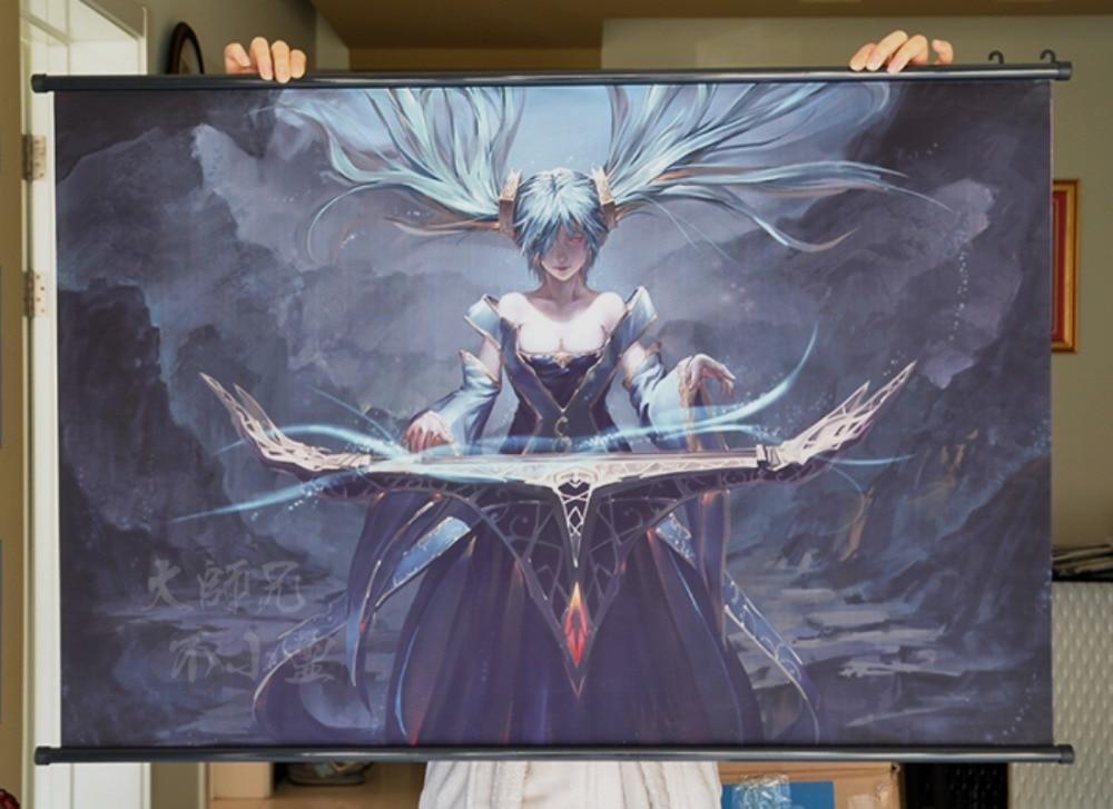 League Of Legends Lol Sona Przewija Gier Hd Plakat Bar Kawiarnie
