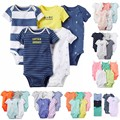 2017 New Baby Clothing set 5pcs-Pack Short Sleeve Bodysuit for Bebes Boys and Girl Jumpsuit soft Cotton Bodysuit Kids