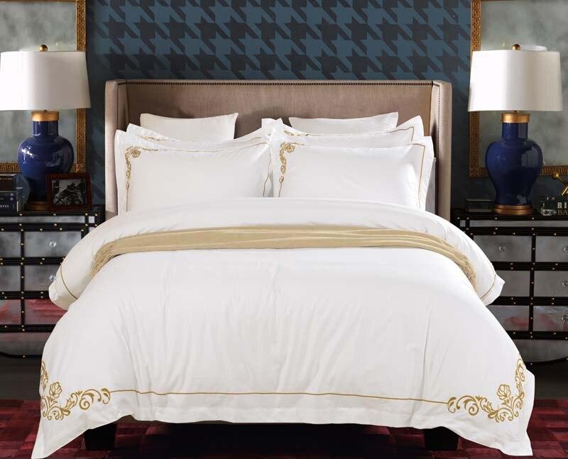 Tencel вышивка восточные постельные принадлежности наборы King Queen размер кровать набор пододеяльник набор простыня Оптовая Продажа роскошный