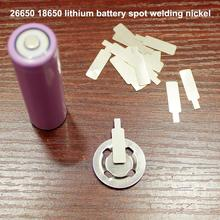 30pcs/lot 26650 Power Battery Spot Welding Cap Nickel Piece 18650 Lithium Can Be Welded Plated Steel Sheet