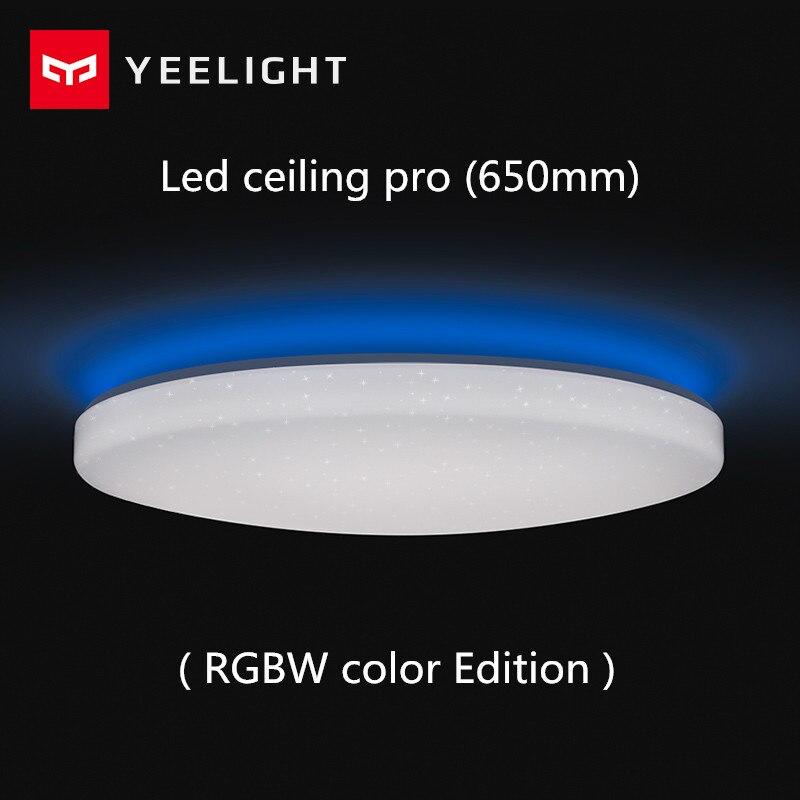 Xiaomi Yeelight Led plafond Pro 650mm RGB 50 W travail à mi maison app et google maison et pour amazon Echo pour xiaomi kits de maison intelligente