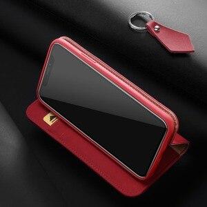 Image 4 - 100% Hakiki Lüks Flip PU Deri Silikon iPhone için kılıf Xs Kılıf Koruyucu Telefon Çanta Kapak iPhone X Için Cüzdan Kılıf Coque