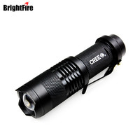 High Quality CREE Q5 Waterproof 3 Modes Mini LED Flashlight Adjustable Focus Zoomable Torch Lights