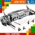 678 unids bela 05010 new star wars resistencia al transporte de tropas regalos compatible con lego monta los bloques huecos