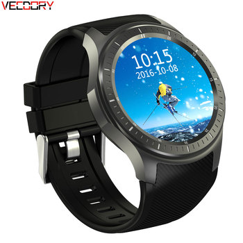 Vecdory Smart Watch Android Smartwatch MT6580 Quad Core 1.3Ghz Sim Heart Rate Black Watch Support Russian Smart Watches Android умные часы smart watch y1