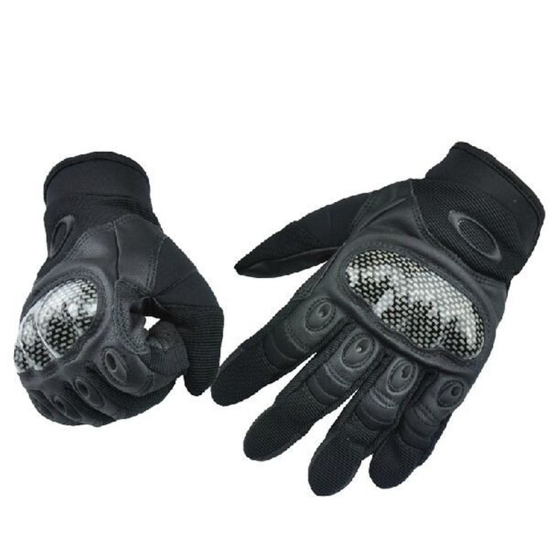 Carbon Fiber Military Tactical Gloves Outdoors Ride Protective Gloves Full Finger Slip resistant Motorcycle Gloves guantes