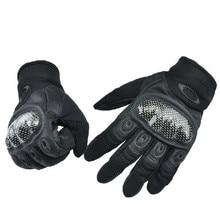 Углеродного Волокна Военная Тактические Перчатки На Открытом Воздухе Ездить Защитные Перчатки Полный Пальцев скольжению Перчатки Мотоцикла guantes moto