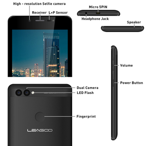 "Image 5 - LEAGOO POWER 2 Face ID Fingerprint Smartphone 2GB+16GB Dual Camera 3200mAh Android 8.1 MT6580A Quad Core 5.0"" HD Mobile Phone"