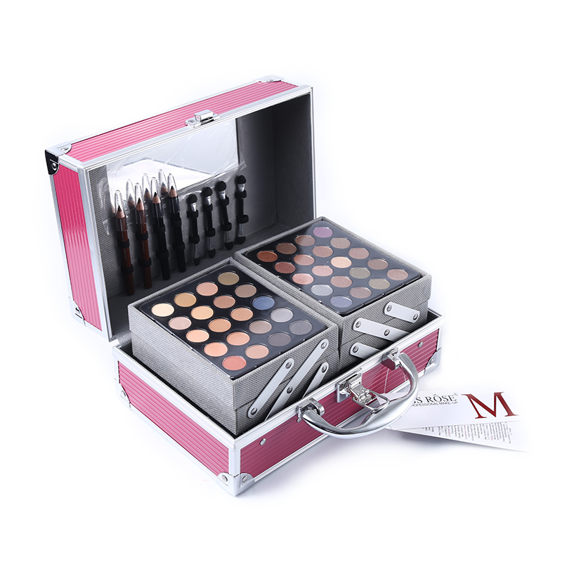 Miss Rose Makeup Kit Eyeshadow Palette Lipstick Concealer Eye Pencil Highlighter Bronzer Set for Make-Up