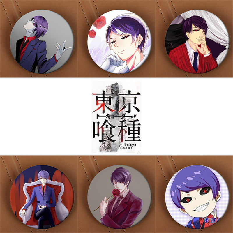 Youpop Tokyo Ghoul Anime Brooch Pins Badge Accessories For Clothes Hat Backpack Decoration Men and Women Boy Girl HZ1383