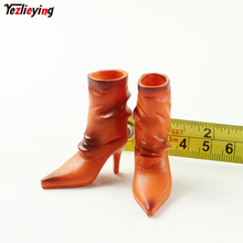 1/6 Scale Clothes Accessories Snow Boots/Shoes Middle tube Sharp High-Heel Model Solid Fit 12