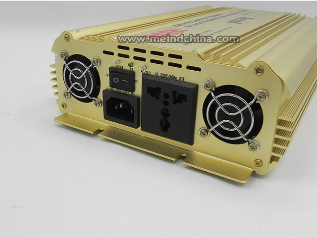 Hot Selling Pure Sine Wave Built-In Charger UPS DC 12V to AC 220V Continuous 1000W Peak 2000 Watt Power Inverter
