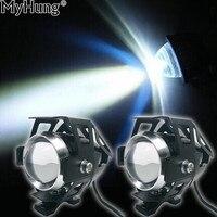 LED Light Motorcycle Headlight Fog Lights U5 LED High Low Beam Flash Driving Motorbike Spot Head Lamp Headlamp Motor Accessories