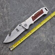 Hot, Browning Survival Knife Pocket Hunting Folding Knife Wood Handle Knives Camping Outdoor Tools