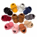 Boy Girl Soft Moccs Fringe Soft Soled Non-slip Footwear Crib Shoes PU Suede Leather Newborn Baby Moccasins QF
