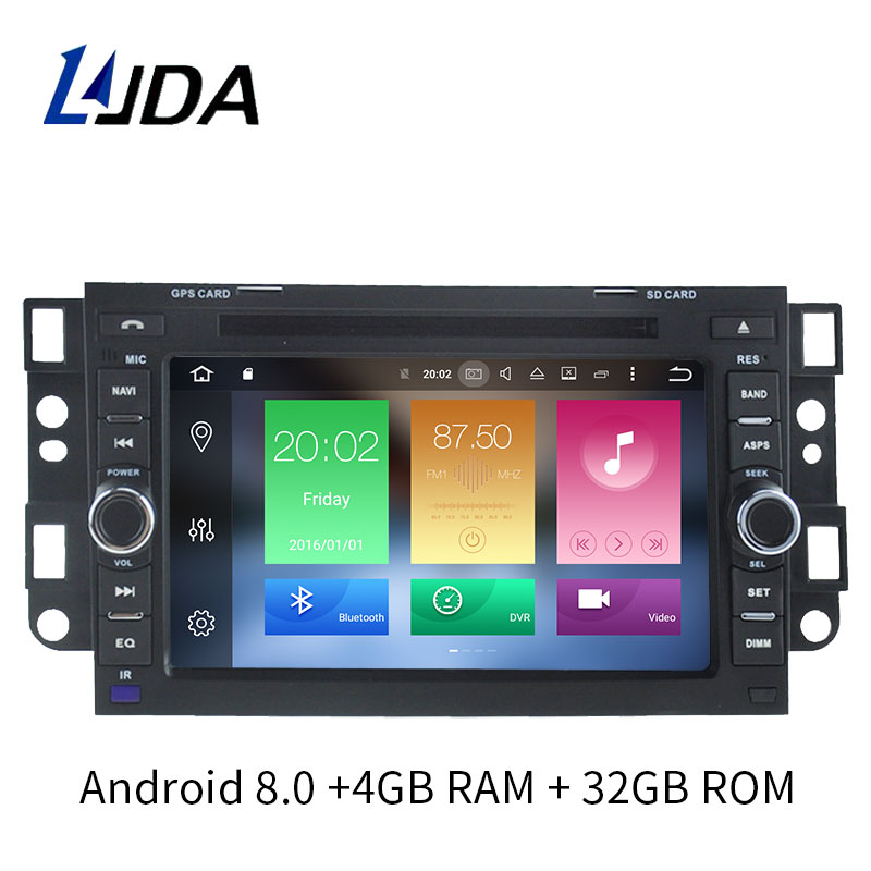 LJDA 2 Din Android 8.0 Car Radio Multimedia DVD Player for Chevrolet Aveo Epica Captiva Spark Optra Tosca Kalos GPS Stereo 8Core