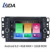 LJDA 2 Din Android 8.0 Car Radio Multimedia DVD Player for Chevrolet Aveo Epica Captiva Spark Optra Tosca Kalos GPS Stereo 8Core