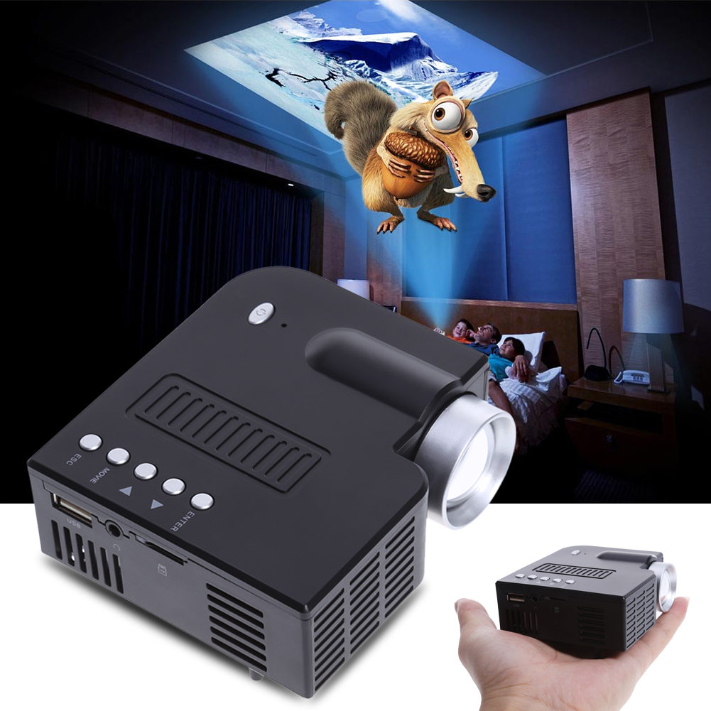 Mini Portable LED Mini Projector 1080P Multimedia Home Theater VGA USB HDMI SD Card Home Video Game Proyector Beamer new arrival low cost mini led projector portable led lamp beamer with hdmi usb sd vga compatible for dvd computer for home game
