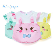 HIMIPOPO Baby Bibs Waterproof Lunch Bibs Boys Girls Infants Cute Cat Ear Bibs Kid Burp Clothes
