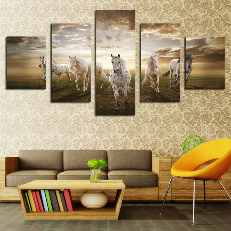 Aliexpress com   Buy Framed Print horse painting modern home decor wall art  picture for living room decor print Painting on canvas art  PT0069 from  Reliable. Aliexpress com   Buy Framed Print horse painting modern home decor