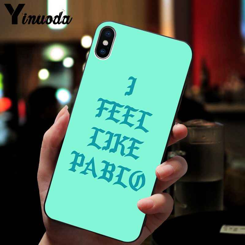 official photos bc1bb b804b Yinuoda Kanye West I FEEL LIKE PABLO Smart Cover Black Soft Shell Phone  Case for iPhone 5 5Sx 6 7 7plus 8 8Plus X XS MAX XR