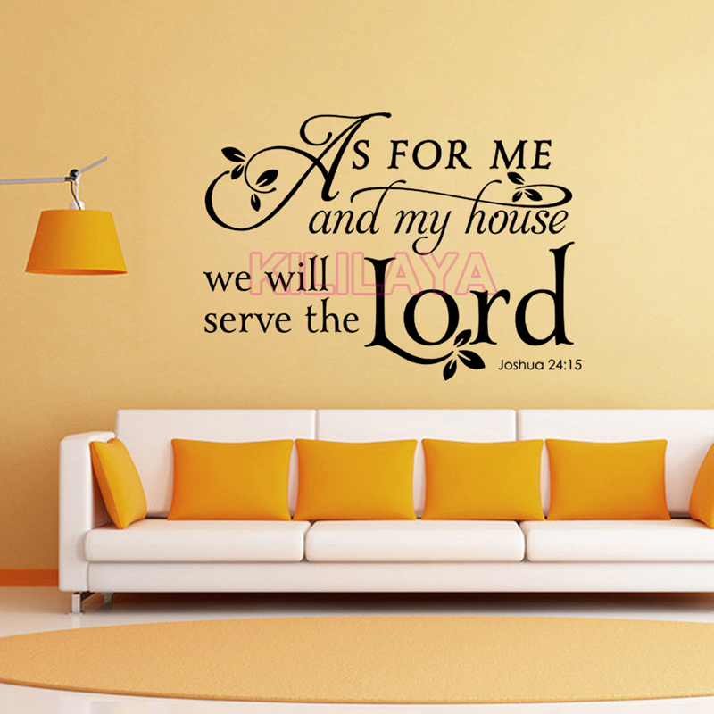Christian We Will Serve The Lord Vinyl Wall Sticker Decal Saying Uplifting Wall Art Wallpaper