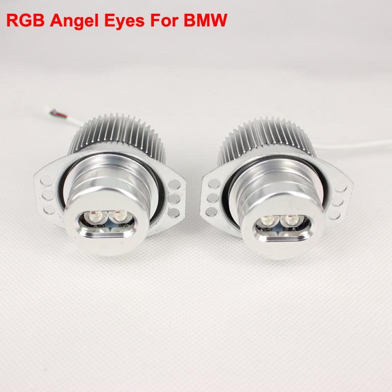 Angel Eyes RGB Multi-Color LED Light DRL Turn Light For Car Headlights - One set asus p8h61 m lx3 desktop motherboard h61 socket lga 1155 i3 i5 i7 ddr3 16g uatx on sale