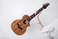 Enya M6 Ukulele Solid 3A Mahogany ukuleles concert tenor with bag pickup Hawaii mini guitar professional musical instruments
